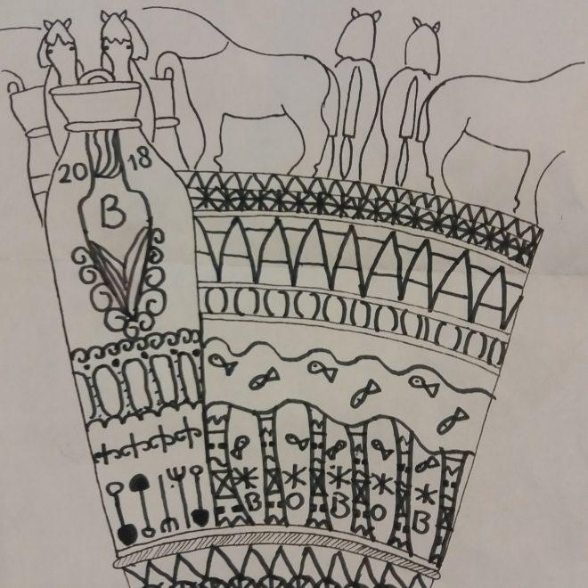 eigen ontwerp tijdens muzeeum Vlssingen