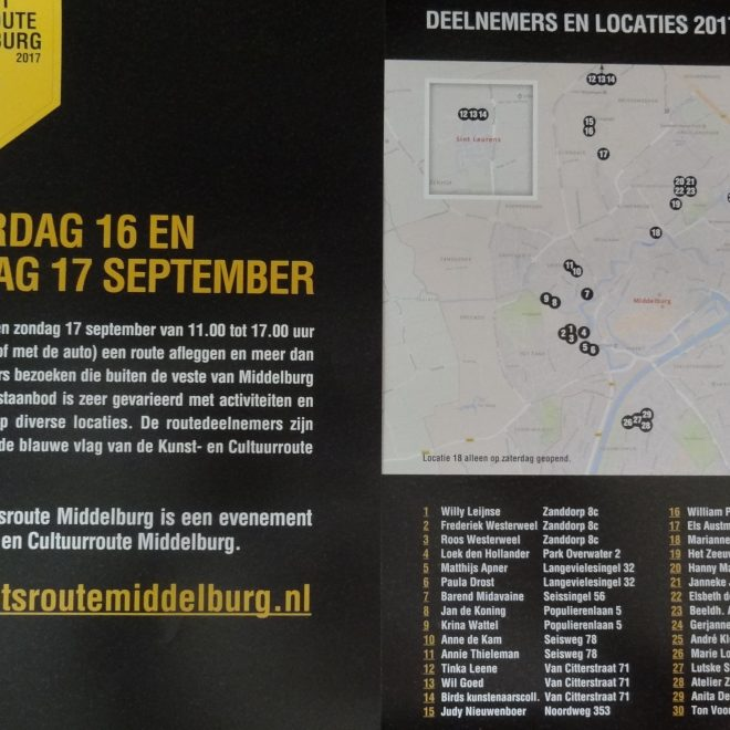 kunst en fietsroute middelburg 2017